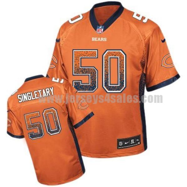 Nike Bears #50 Mike Singletary Orange Alternate Men's Stitched NFL Elite Drift Fashion Jersey