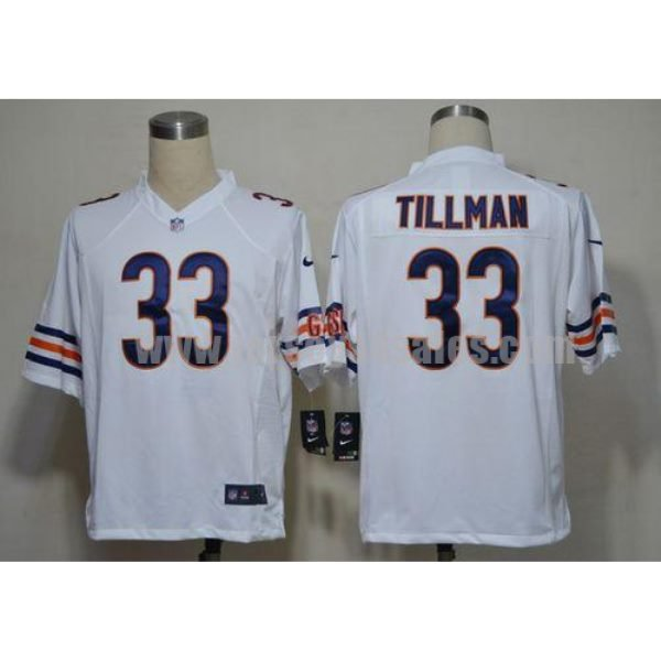 Nike Bears #33 Charles Tillman White Men's Stitched NFL Game Jersey