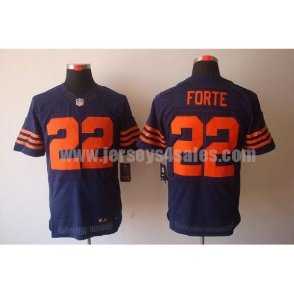 Nike Bears #22 Matt Forte Navy Blue 1940s Throwback Men's Stitched NFL Elite Jersey