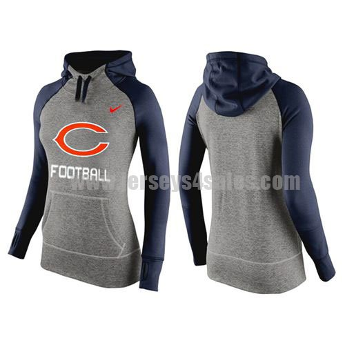 Women's Chicago Bears Nike Grey/Navy Blue All Time Performance NFL Hoodie