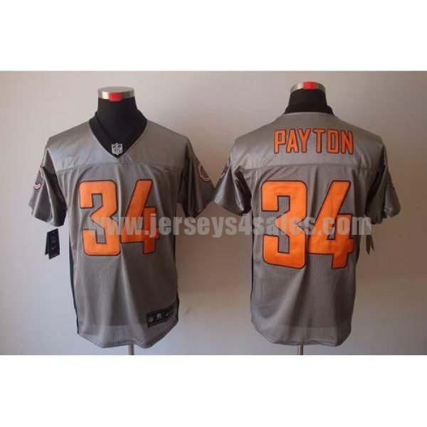 Nike Bears #34 Walter Payton Grey Shadow Men's Stitched NFL Elite Jersey