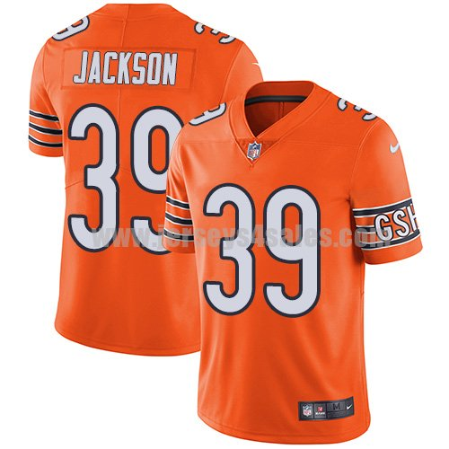 Youth Nike Chicago Bears #39 Eddie Jackson Orange Stitched NFL Limited Rush Jersey