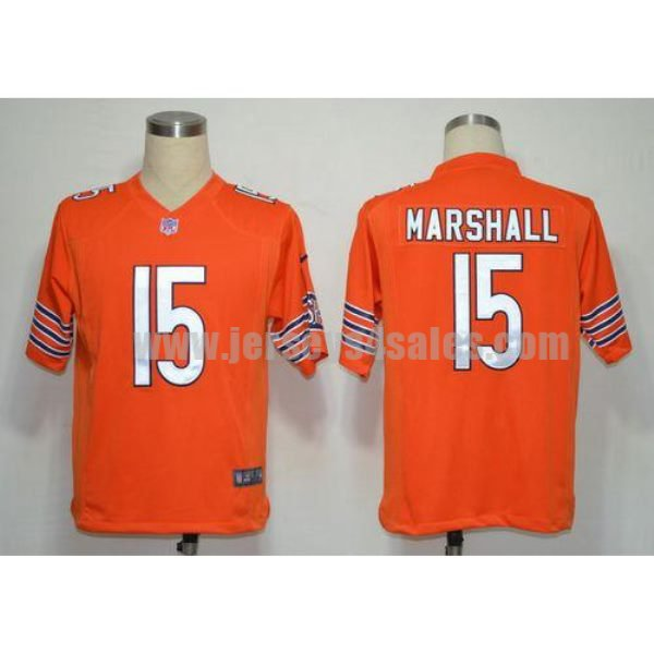 Nike Bears #15 Brandon Marshall Orange Alternate Men's Stitched NFL Game Jersey