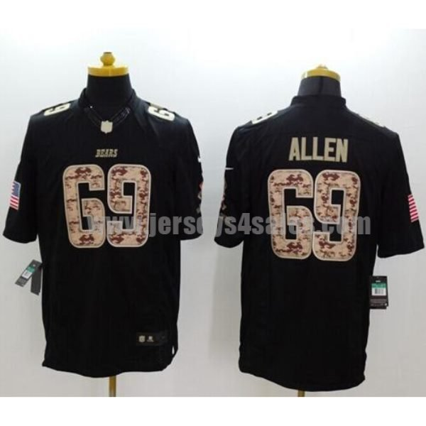 Nike Bears #69 Jared Allen Black Men's Stitched NFL Limited Salute to Service Jersey