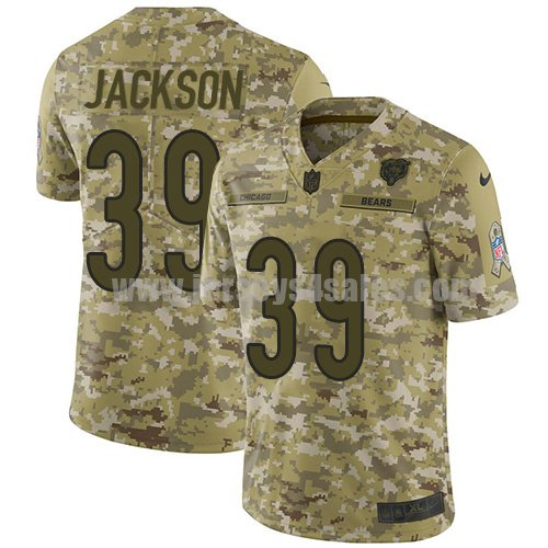 Youth Nike Chicago Bears #39 Eddie Jackson Camo Stitched NFL Limited 2018 Salute to Service Jersey
