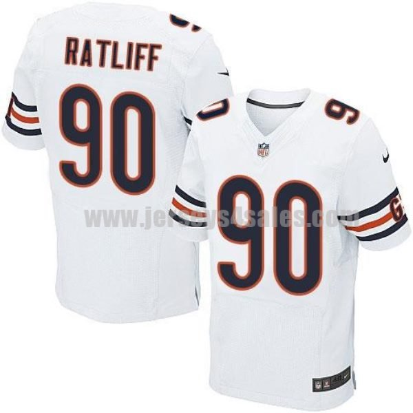 Nike Bears #90 Jeremiah Ratliff White Men's Stitched NFL Elite Jersey