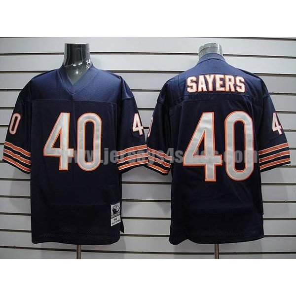 Mitchell & Ness Bears #40 Gale Sayers Blue With Small Number Stitched Throwback NFL Jersey