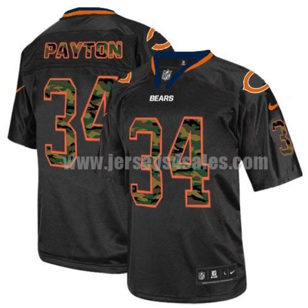 Nike Bears #34 Walter Payton Black Men's Stitched NFL Elite Camo Fashion Jersey