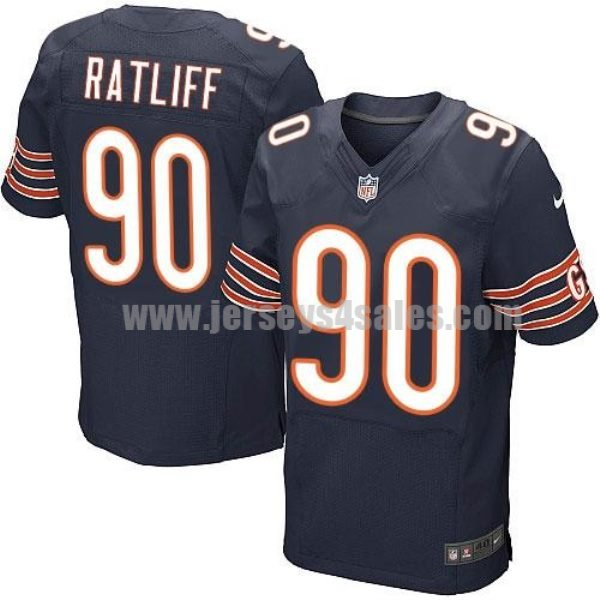 Nike Bears #90 Jeremiah Ratliff Navy Blue Team Color Men's Stitched NFL Elite Jersey
