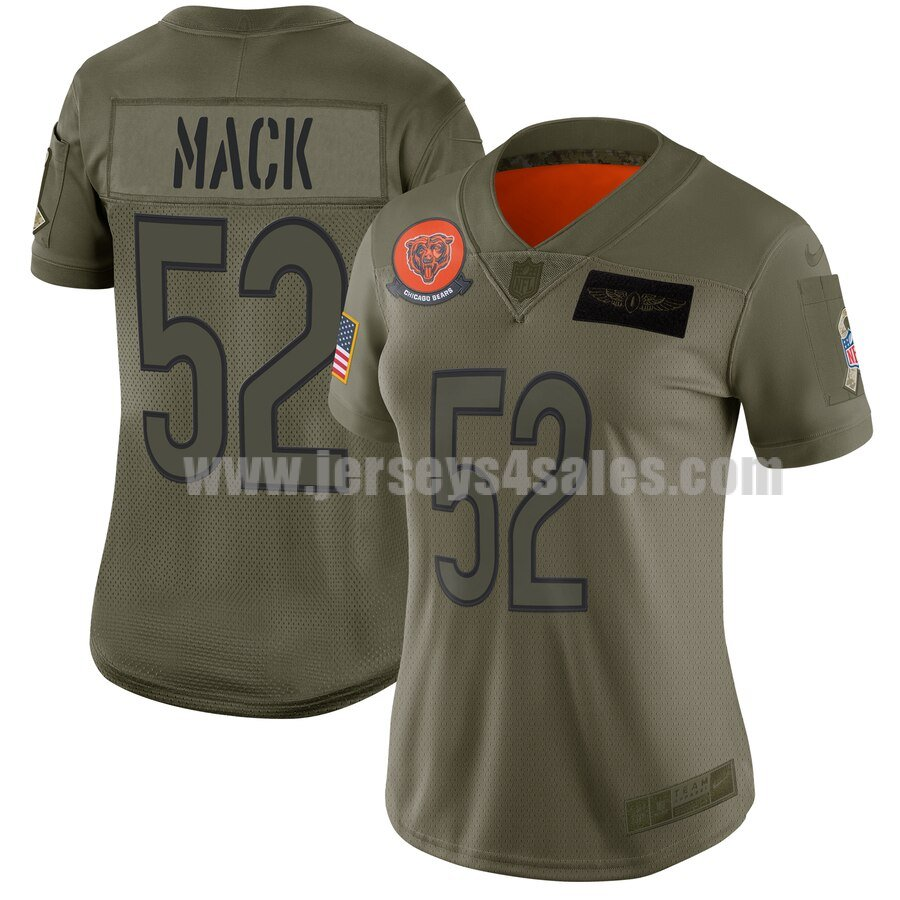 Women's Chicago Bears #52 Khalil Mack Nike Camo 2019 Salute to Service Limited Jersey