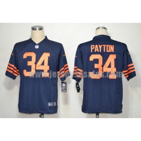Nike Bears #34 Walter Payton Navy Blue 1940s Throwback Men's Stitched NFL Game Jersey