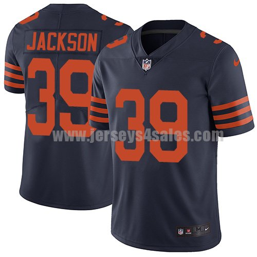 Men's Nike Chicago Bears #39 Eddie Jackson Navy Blue Alternate Stitched NFL Vapor Untouchable Limited Jersey