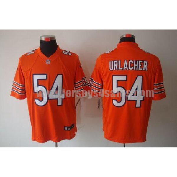 Nike Bears #54 Brian Urlacher Orange Alternate Men's Stitched NFL Limited Jersey