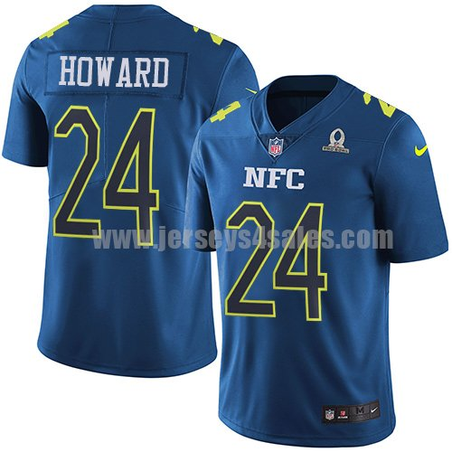 Men's Nike Chicago Bears #24 Jordan Howard Navy Stitched NFL Limited NFC 2017 Pro Bowl Jersey