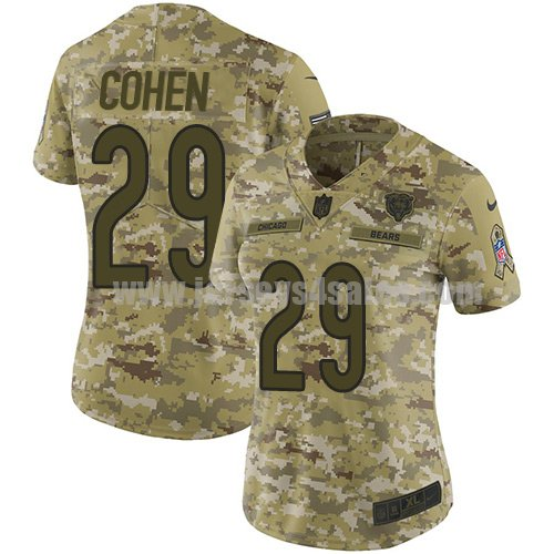 Women's Nike Chicago Bears #29 Tarik Cohen Camo Stitched NFL Limited 2018 Salute to Service Jersey