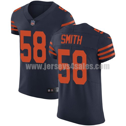 Men's Nike Chicago Bears #58 Roquan Smith Navy Blue Alternate Stitched NFL Vapor Untouchable Elite Jersey