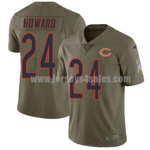 Youth Nike Chicago Bears #24 Jordan Howard Olive Stitched NFL Limited 2017 Salute to Service Jersey