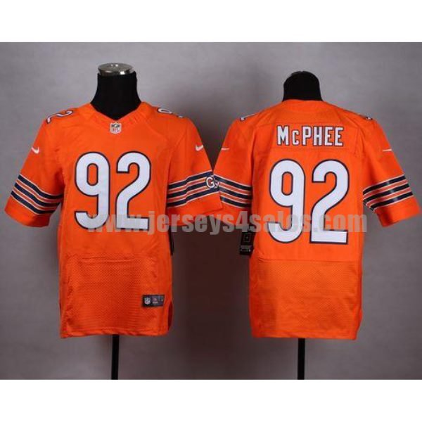 Nike Bears #92 Pernell McPhee Orange Alternate Men's Stitched NFL Elite Jersey