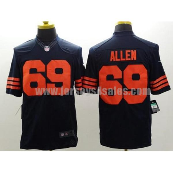 Nike Bears #69 Jared Allen Navy Blue 1940s Throwback Men's Stitched NFL Limited Jersey