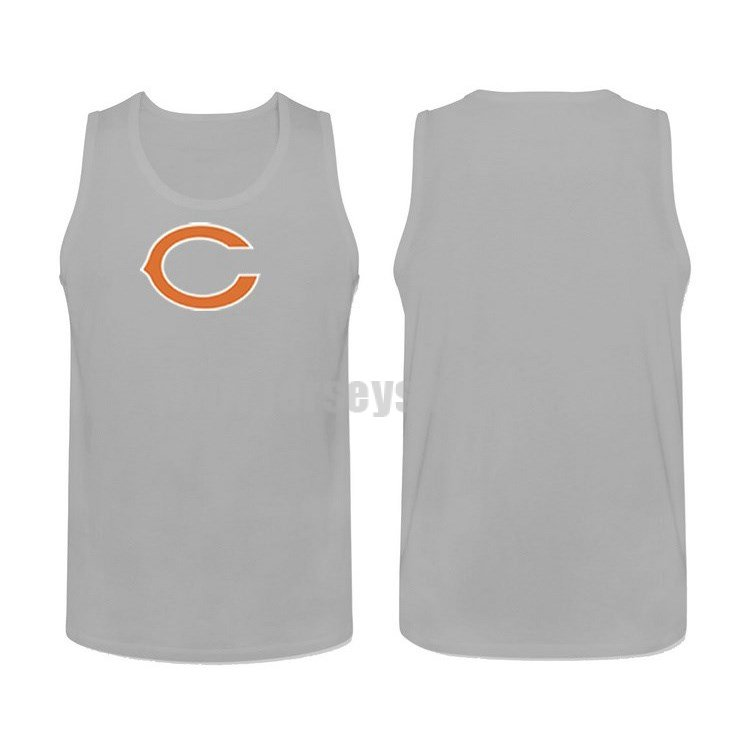 Men's Chicago Bears Cotton Team Nike NFL Grey Tank Top