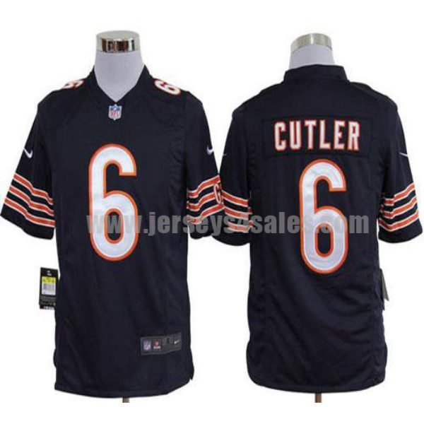 Nike Bears #6 Jay Cutler Navy Blue Team Color Men's Stitched NFL Game Jersey