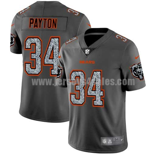 Men's Chicago Bears #34 Walter Payton NFL Teams Gray Fashion Static Limited Jersey