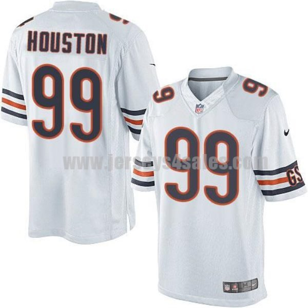 Nike Bears #99 Lamarr Houston White Men's Stitched NFL Limited Jersey