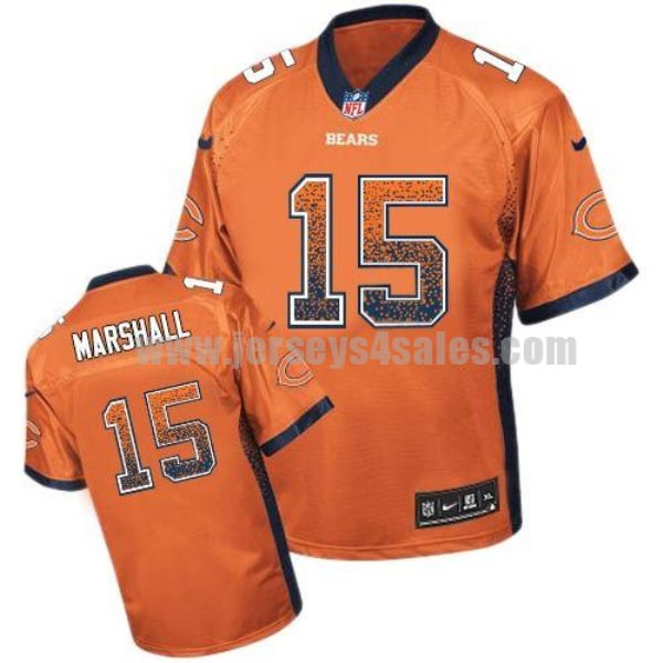 Nike Bears #15 Brandon Marshall Orange Alternate Men's Stitched NFL Elite Drift Fashion Jersey