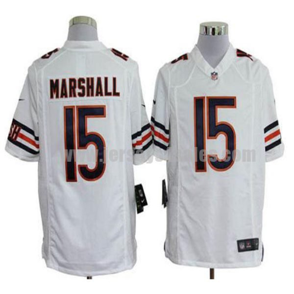 Nike Bears #15 Brandon Marshall White Men's Stitched NFL Game Jersey