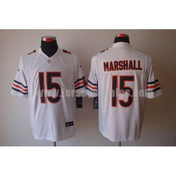Nike Bears #15 Brandon Marshall White Men's Stitched NFL Limited Jersey