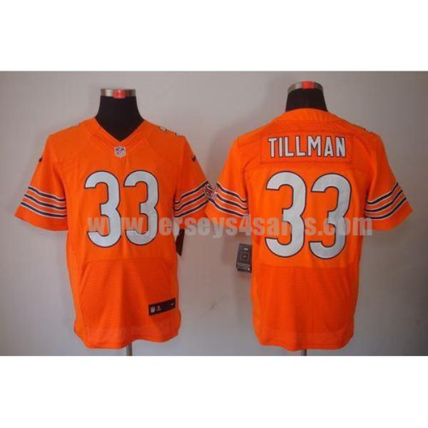 Nike Bears #33 Charles Tillman Orange Alternate Men's Stitched NFL Elite Jersey