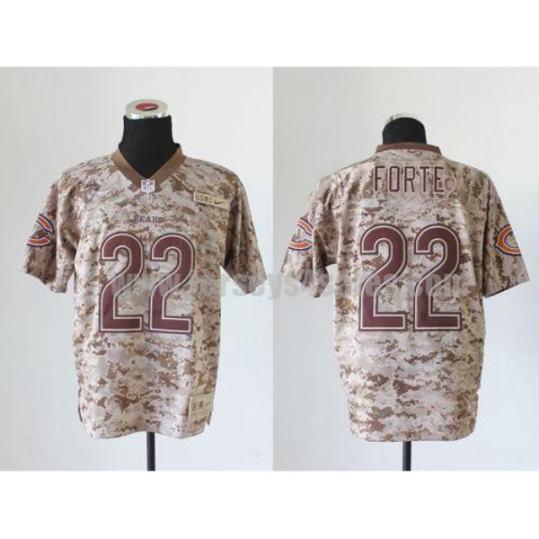 Nike Bears #22 Matt Forte Camo Men's Stitched NFL New Elite USMC Jersey