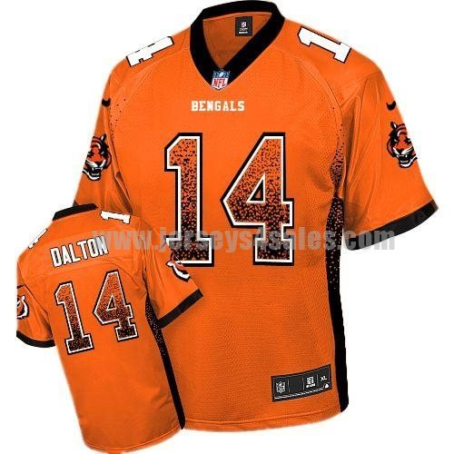 Nike Bengals #14 Andy Dalton Orange Alternate Men's Stitched NFL Elite Drift Fashion Jersey