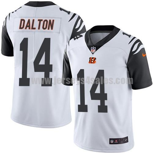Men's Cincinnati Bengals #14 Andy Dalton White Stitched Nike NFL Color Rush Limited Jersey
