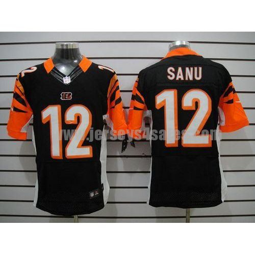 Nike Bengals #12 Mohamed Sanu Black Team Color Men's Stitched NFL Elite Jersey