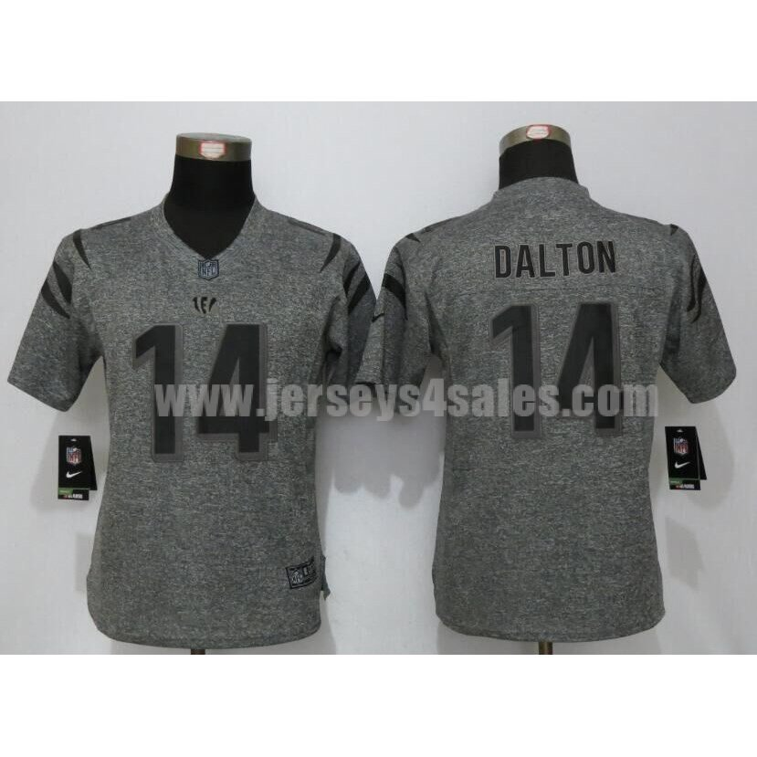 Women's Cincinnati Bengals #14 Andy Dalton Grey Stitched Nike NFl Gridiron Gray Limited Jersey