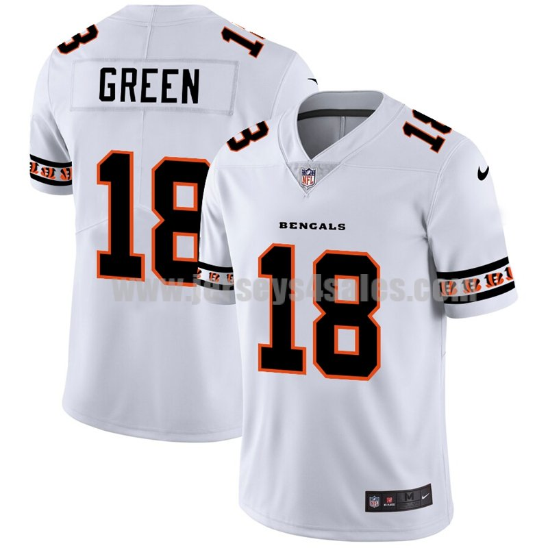 Men's Cincinnati Bengals #18 A.J. Green White NFL Team Logo Cool Edition Jerseys