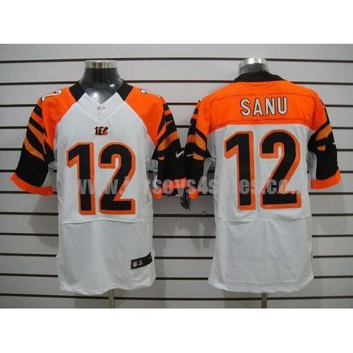 Nike Bengals #12 Mohamed Sanu White Men's Stitched NFL Elite Jersey