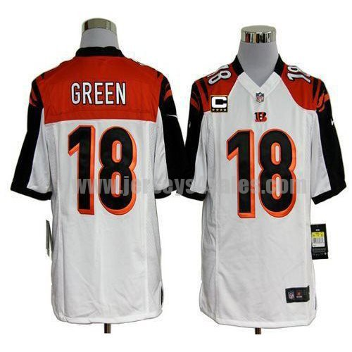 Nike Bengals #18 A.J. Green White With C Patch Men's Stitched NFL Game Jersey