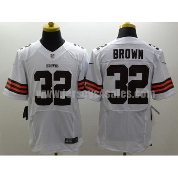Nike Browns #32 Jim Brown White Men's Stitched NFL Elite Jersey