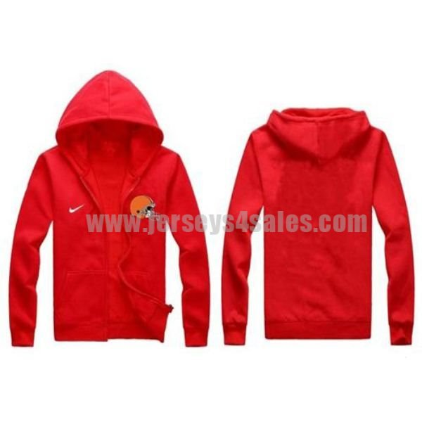 Nike Cleveland Browns Authentic Logo Hoodie Red