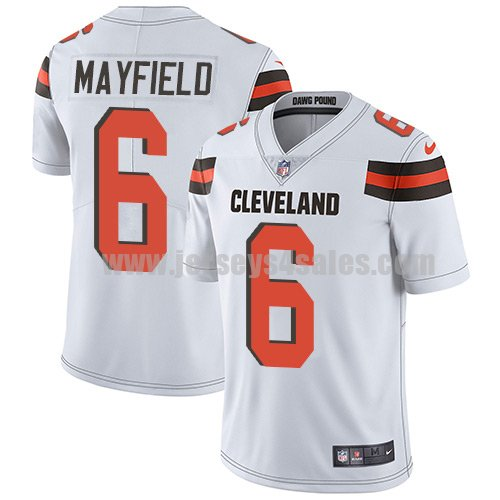 Youth Cleveland Browns #6 Baker Mayfield White Nike NFL Vapor Untouchable Limited Jersey