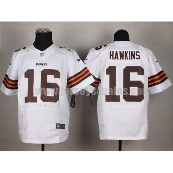 Nike Browns #16 Andrew Hawkins White Men's Stitched NFL Elite Jersey