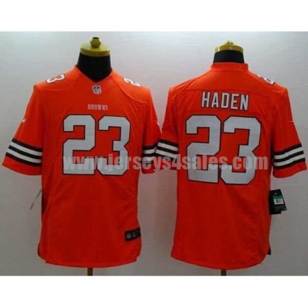 Nike Browns #23 Joe Haden Orange Alternate Men's Stitched NFL Limited Jersey