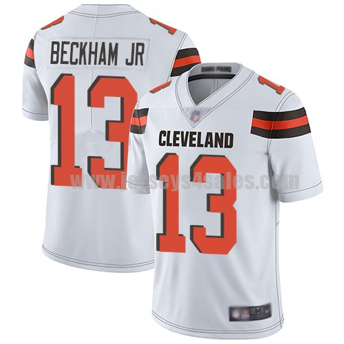 Youth Nike Cleveland Browns #13 Odell Beckham Jr Nike White Limited Vapor Untouchable Jersey