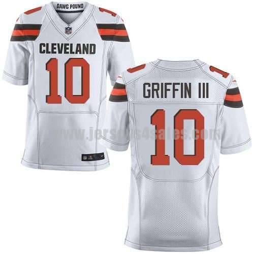 Men's Cleveland Browns #10 Robert Griffin III White Stitched Nike NFL Road Elite Jersey