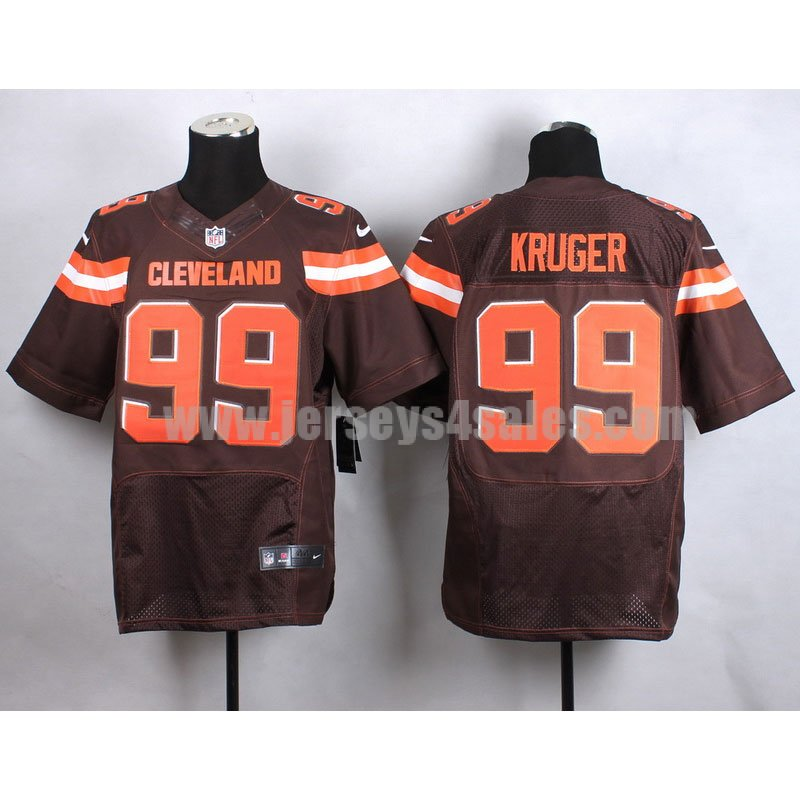 Men's Cleveland Browns #99 Paul Kruger Brown Team Color Stitched NFL New Nike Elite Jersey