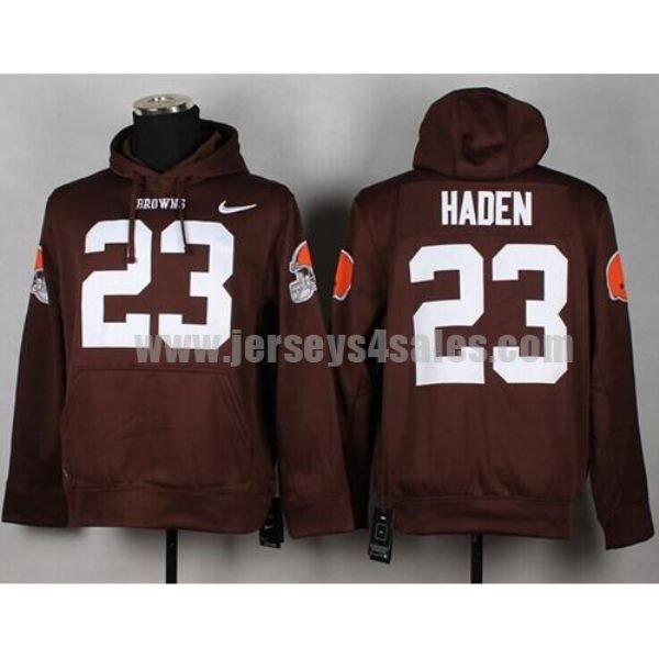 Nike Browns #23 Joe Haden Brown Pullover NFL Hoodie