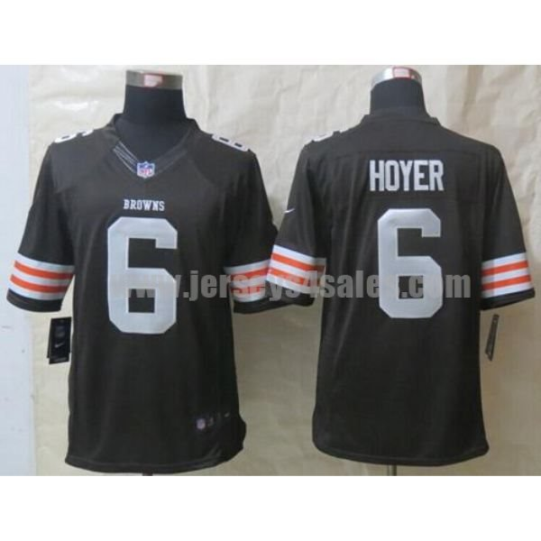 Nike Browns #6 Brian Hoyer Brown Team Color Men's Stitched NFL Limited Jersey