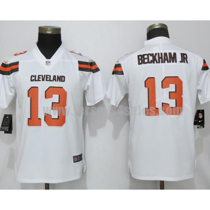 Women's New Nike Cleveland Browns #13 Odell Beckham Jr White Vapor Untouchable Elite Player Jersey